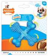 Nylabone Puppy Teething X Knochen, blau Blau