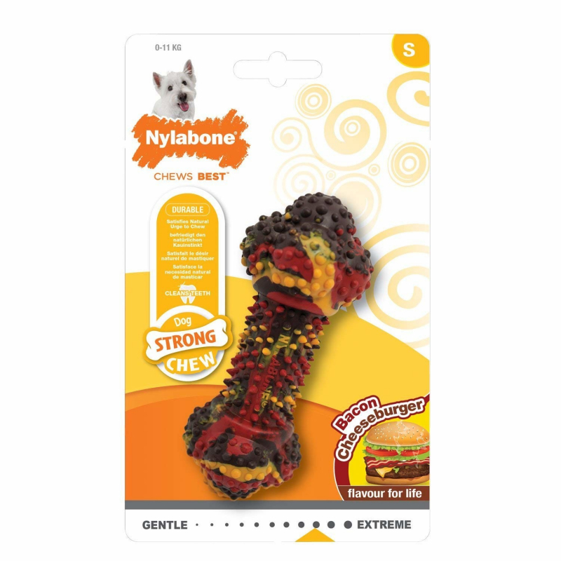 Nylabone Strong Chew Bacon Cheeseburger  0018214833208