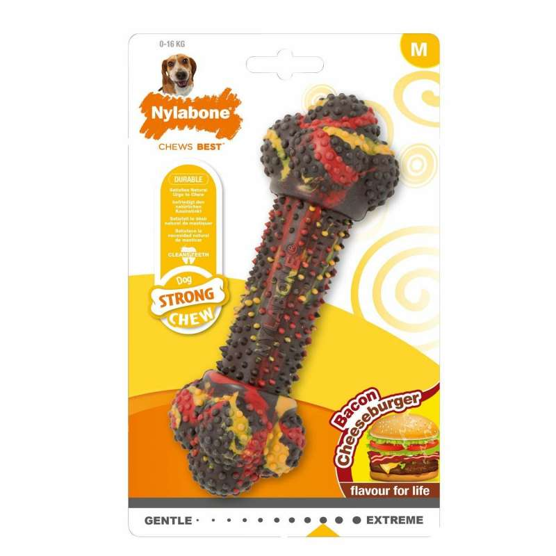 Nylabone Strong Chew Bacon Cheeseburger  M