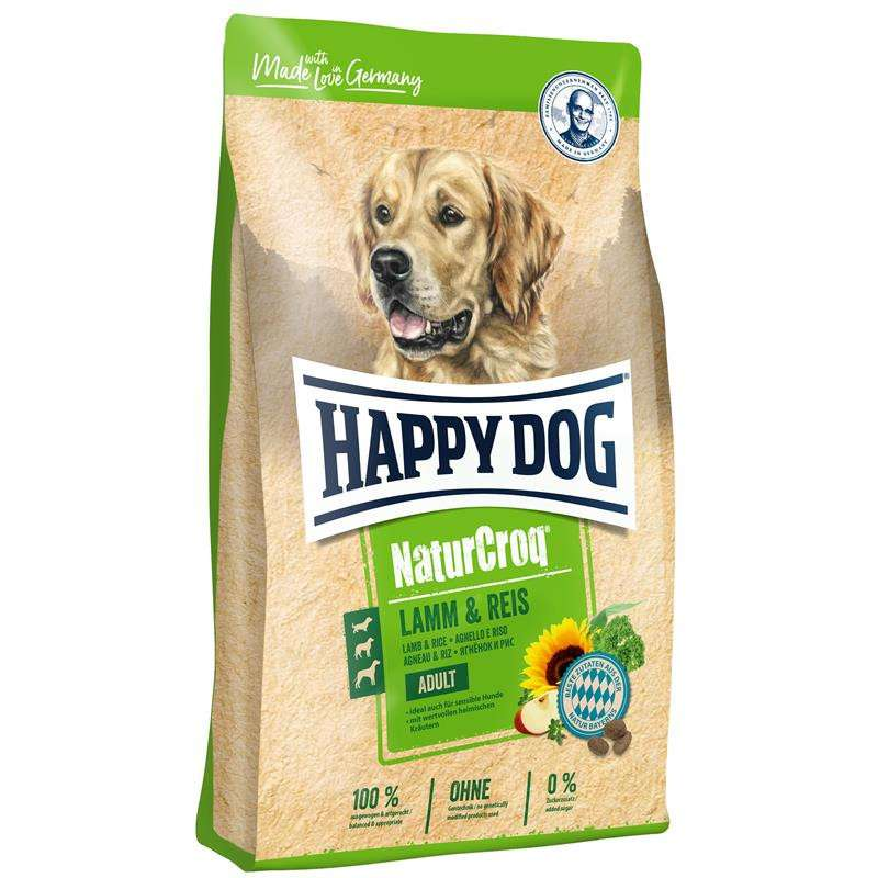 Happy Dog NaturCroq Cordero y Arroz 15 kg, 4 kg, 1 kg