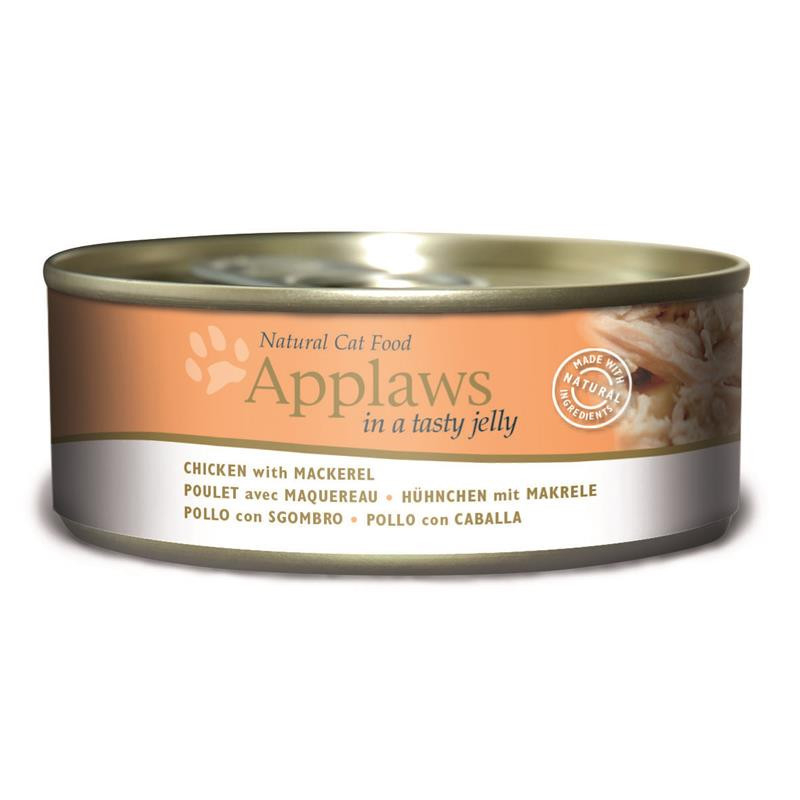 Applaws Natural Cat Food Chicken with Mackerel in Jelly 156 g