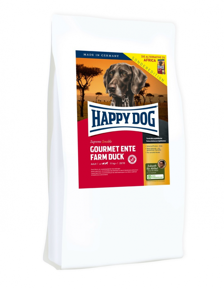 Happy Dog Supreme Sensible Gourmet Canard 4 kg, 12.5 kg
