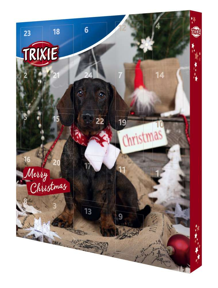 trixie adventskalender f r hunde leckerlies drops. Black Bedroom Furniture Sets. Home Design Ideas