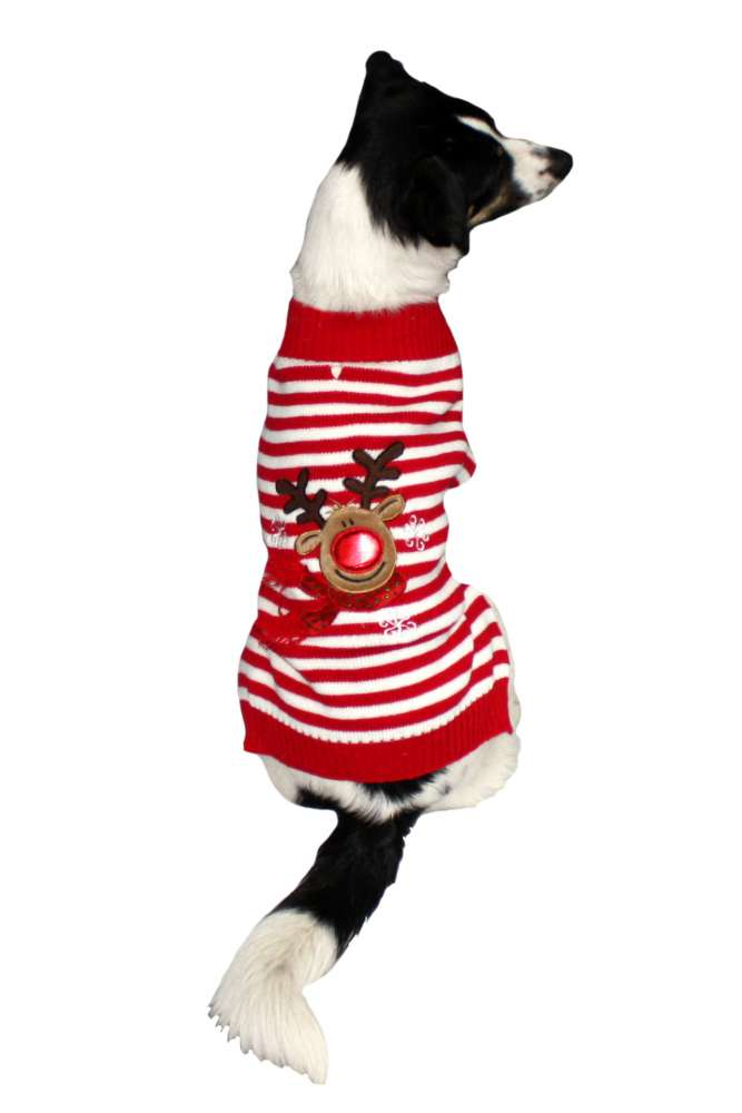 Armitage Pet Care Good Boy Reindeer Jumper L Rojo