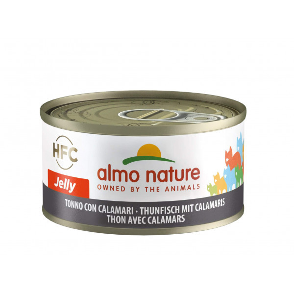 Almo Nature HFC Jelly Tuna and Squid 70 g 8001154126822 anmeldelser