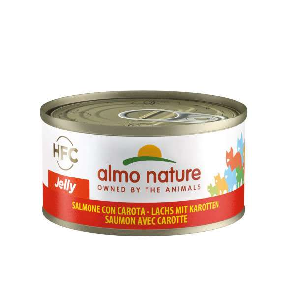 Almo Nature Jelly Laks med Gulerod 70 g