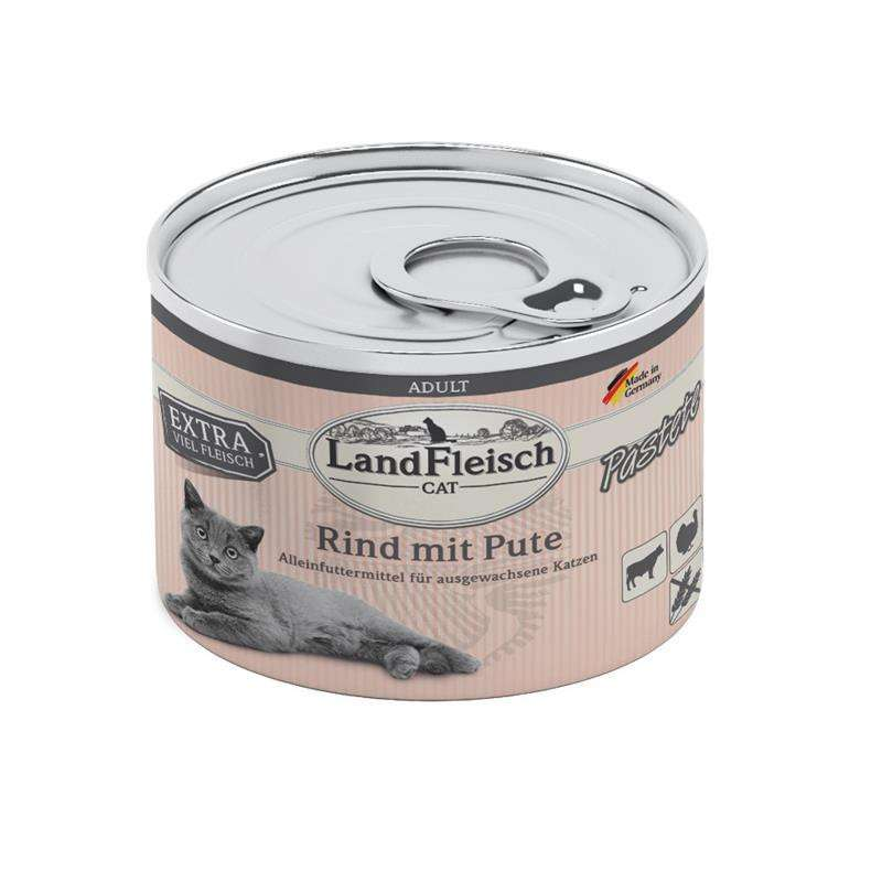 Landfleisch Cat Adult Pate with Beef and Turkey 195 g