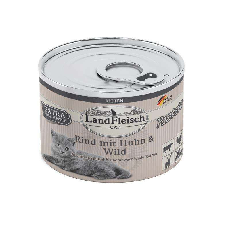 Landfleisch Cat Kitten Pate with Beef, Chicken and Game 4003537404408 kokemuksia
