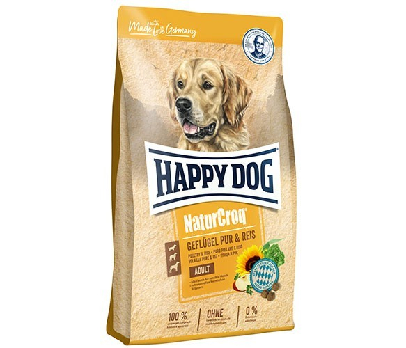 Happy Dog NaturCroq Pur Aves de Corral y Arroz 1 kg