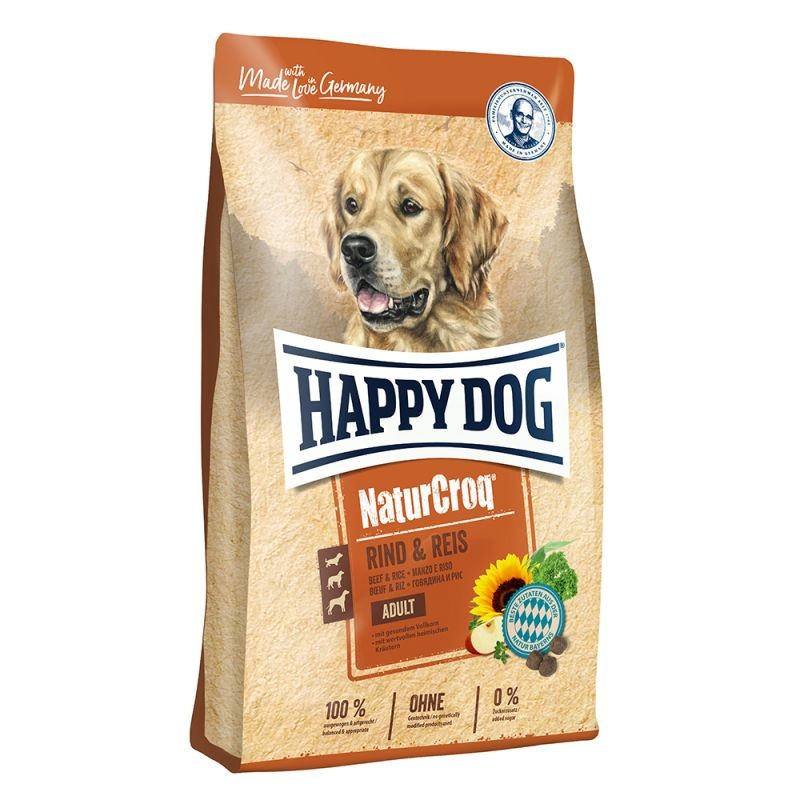 Happy Dog NaturCroq Carne de Res y Arroz 15 kg 4001967116847 opiniones