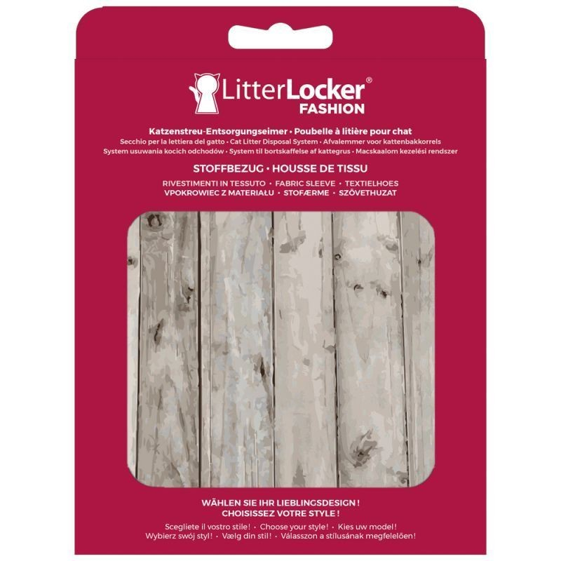 Litter Locker Fashion Stoff-Bezug Wood  Hellbraun 15.5x2.5x20.5 cm