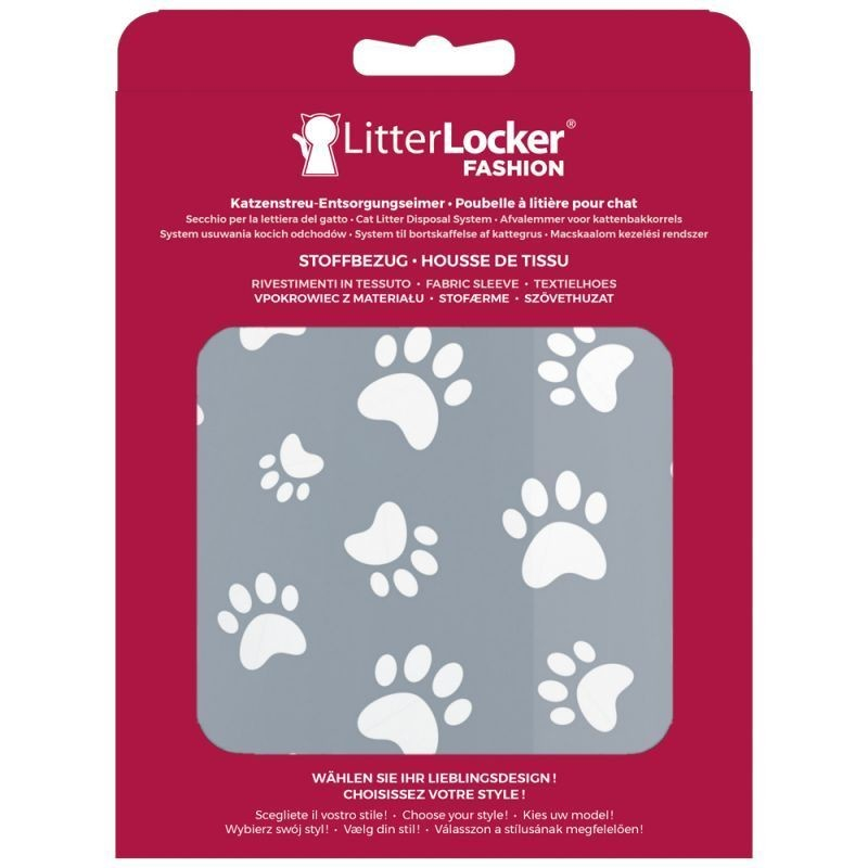 Litter Locker Fashion Stoff-Bezug Cat Paws 0666594203571