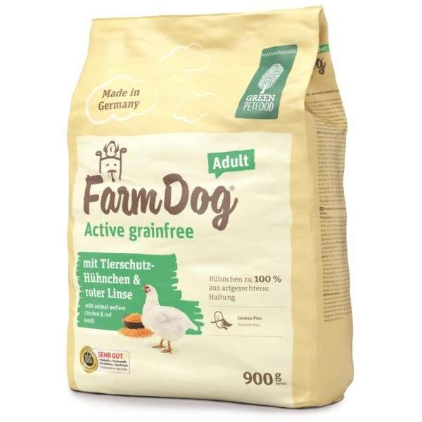 Green Petfood FarmDog Active Grainfree Adult 900 g 4032254747277 Erfahrungsberichte