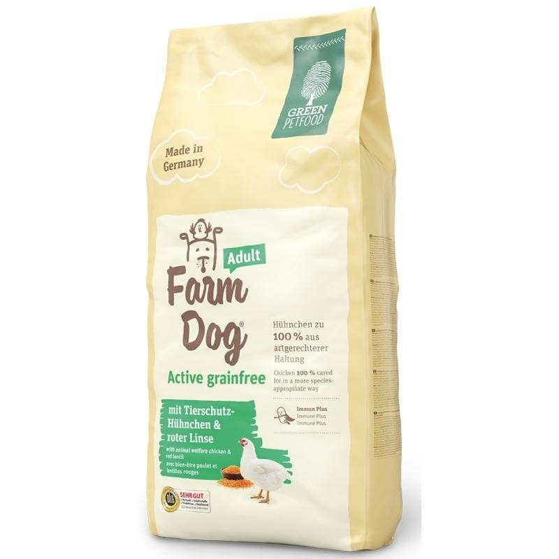 Green Petfood FarmDog Active Grainfree Adult 10 kg