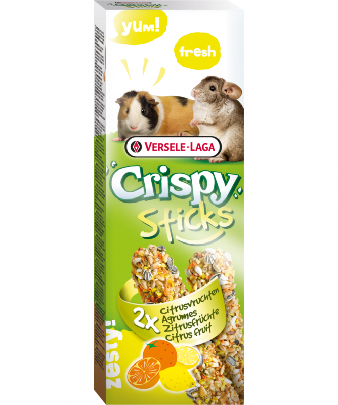 Versele Laga Crispy Sticks voor Cavia/Chinchilla Citrusvruchten 110 g