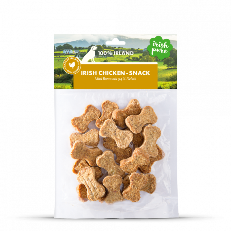 Irish Pure Mini Hundesnack Knochen Huhn 150 g