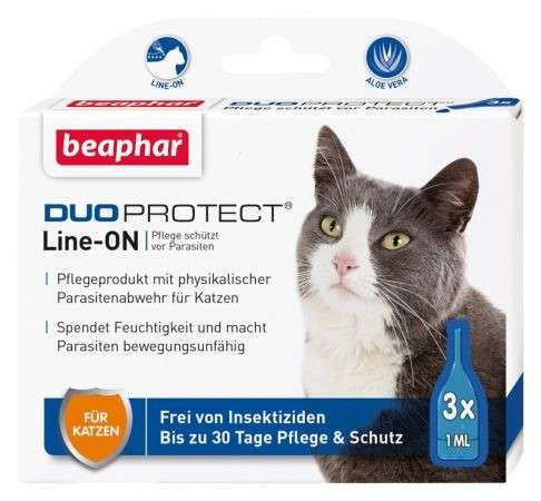 Beaphar Duoprotect Line-ON per gatti 3x1 ml  acquista comodamente