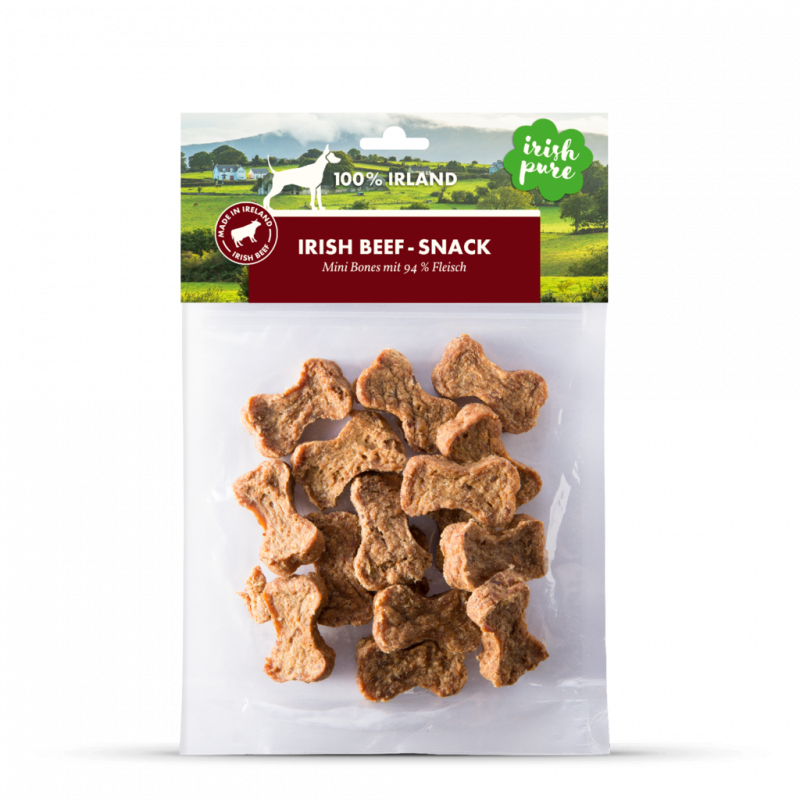 Irish Pure Mini Bones Dog Snacks with Beef 5391212001530 opinião