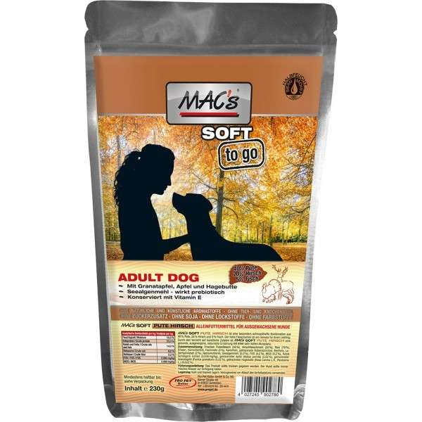 MAC's Soft - Turkey & Venison 230 g, 1.5 kg, 3x5 kg, 15 kg