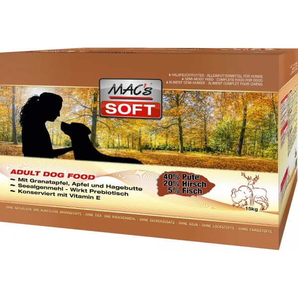 MAC's Soft - Turkey & Venison 3x5 kg
