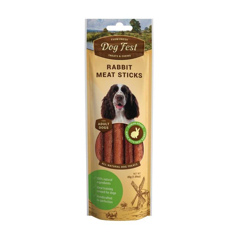 Dog Fest Bastoncini di Coniglio + Regalo: Filetti di Anatra 45+25 g