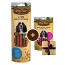 Dog Fest Lamsvlees Sticks + Gift: Plakjes Eendenfilet 45+25 g