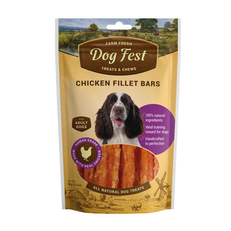 Dog Fest Barras de Filete de Pollo + Regalo: Filetes de Pato 90+25 g