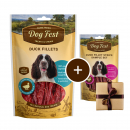 Dog FestDuck Fillets + Gift: Duck Fillet Strips 90+25 g Dog food