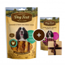 Dog Fest Chicken Strips on Chewy Stick + Gift: Duck Fillet Strips 90+25 g