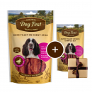 Dog Fest Filetto di Anatra su Bastoncini Masticabili + Regalo: Filetti di Anatra 90+25 g