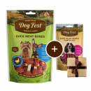 Dog Fest Small Breeds Duck Meat Bones + Gift: Duck Fillet Strips