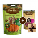 Dog FestSmall Breeds Chicken Fillet Strips + Gift: Duck Fillet Strips 55+25 g Dog food