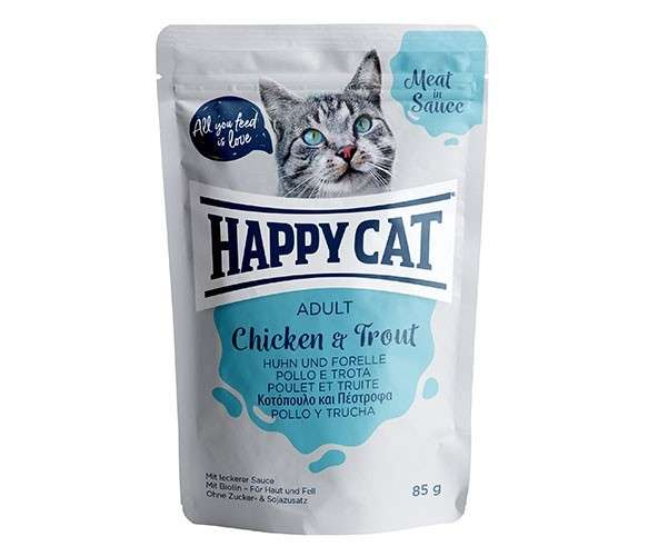 Happy Cat Meat in Sauce Adult Huhn & Forelle 85 g