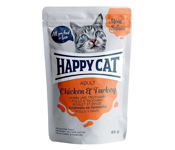 Happy Cat Meat in Sauce Adult Huhn & Truthahn 85 g