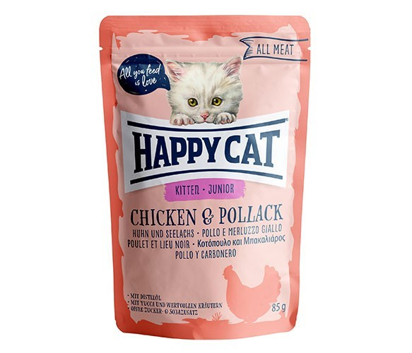 Happy Cat All Meat Junior Chicken & Pollack 85 g