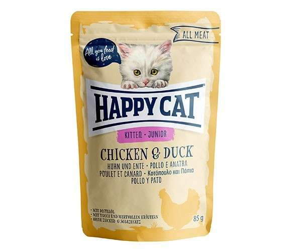 Happy Cat All Meat Junior Huhn & Ente 85 g 4001967115987