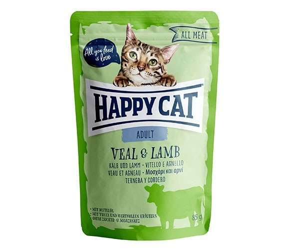 Happy Cat All Meat Adult Veal & Lamb 85 g