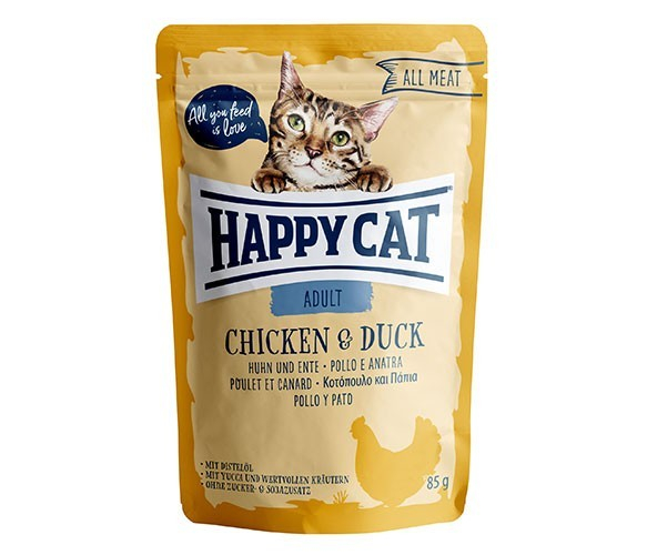 Happy Cat All Meat Adult Chicken & Duck 85 g test