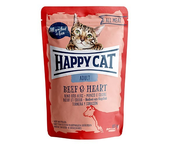 Happy Cat All Meat Adult Beef & Heart 4001967116021 opinioni