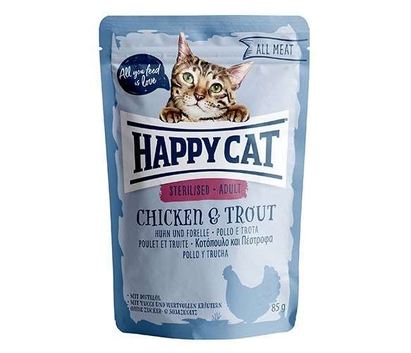 Happy Cat All Meat Adult Sterilised Huhn & Forelle 4001967116045