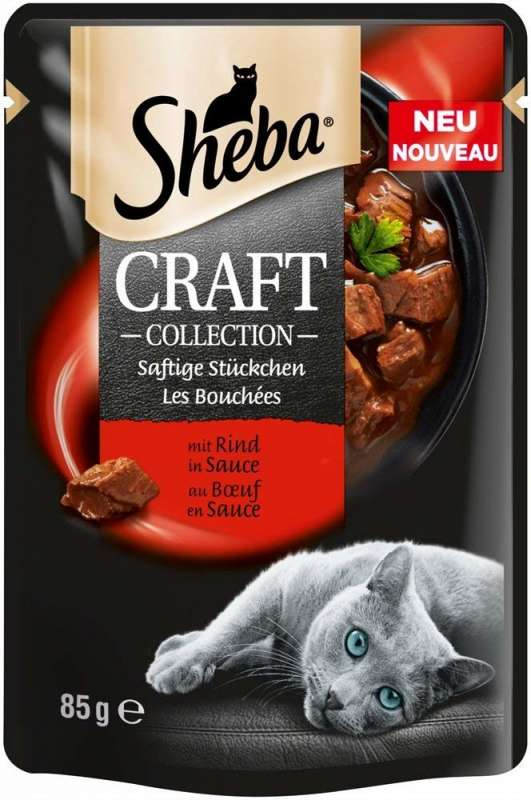 Sheba Craft Collection juicy Slices with Beef in Gravy 3065890139176 opinioni