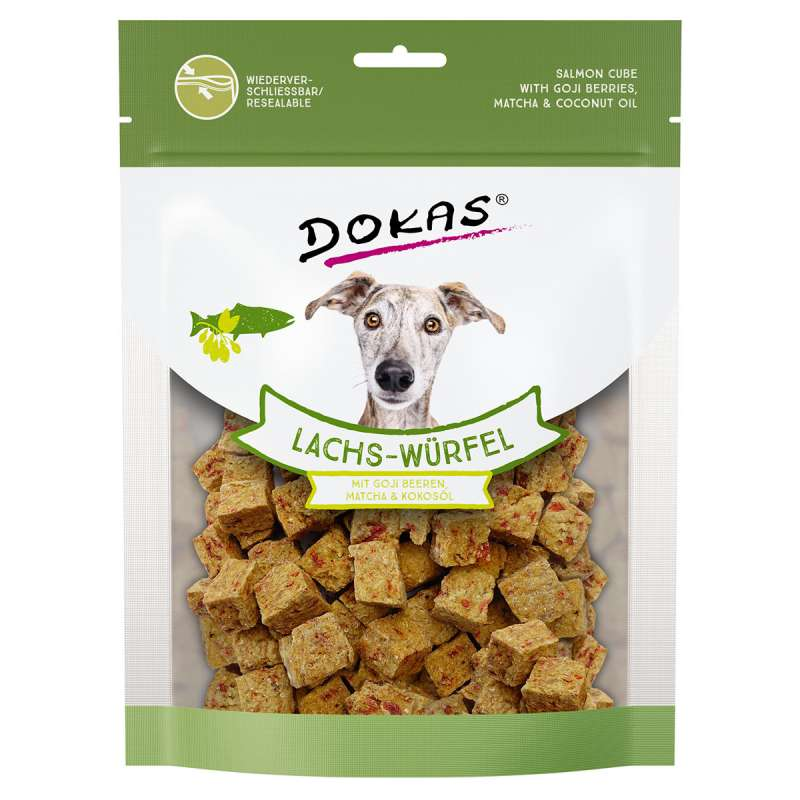 Dokas Salmon Cubes with Goji Berries, Matcha and Coconut Oil 150 g