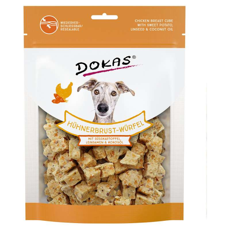 Dokas Chicken Breast Cube with Sweet Potato, Linseed and Coconut Oil 150 g