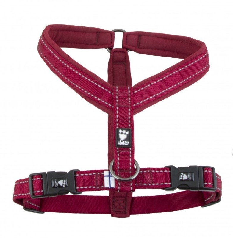 Hurtta Casual Y-Hundegeschirr  Bordeaux 70 cm