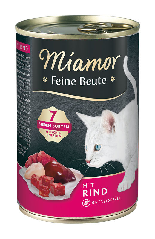 Miamor Feine Beute with Beef, Grain-free 400 g, 185 g