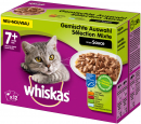WhiskasFresh pouch Multipack 7+ meat & fish selection 12x100 g Cat food