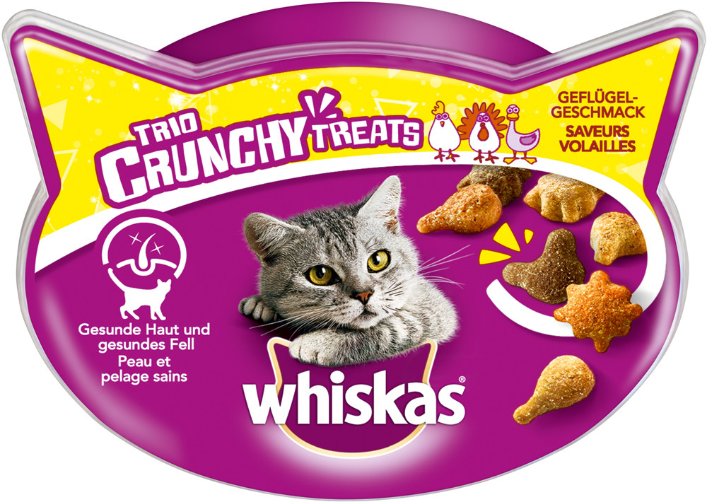 Whiskas Trio Crunchy Treats Saveur de Volaille 66 g