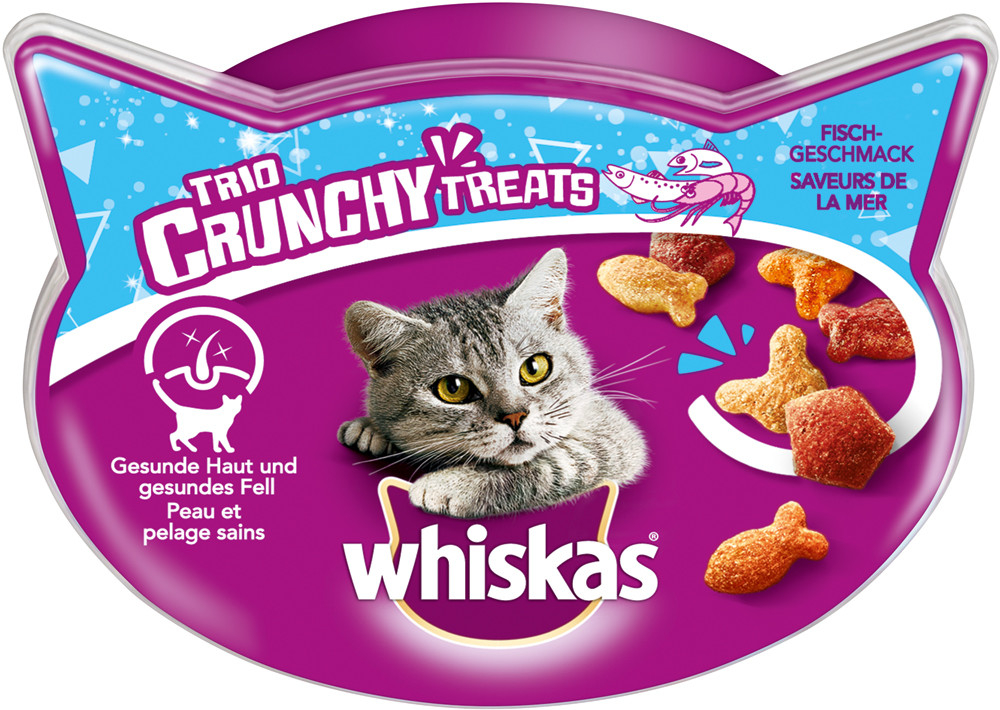 Whiskas Trio Crunchy Treats Saveur de Fruits de Mer 66 g