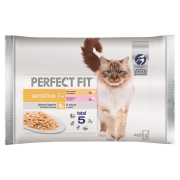 Perfect Fit Sensitive 1+ Multipack Chicken & Salmon 4x85 g
