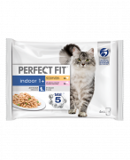 Perfect Fit Indoor 1+ Multipack Chicken & Salmon 4x85 g